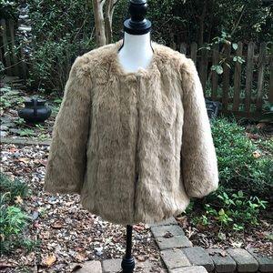 Zara TRF faux fur jacket